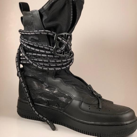 the latest e48c1 88a6c Nike Shoes | Sz Mens Sf Af1 Hi Boots Black Aa1128002 85 | Poshmark